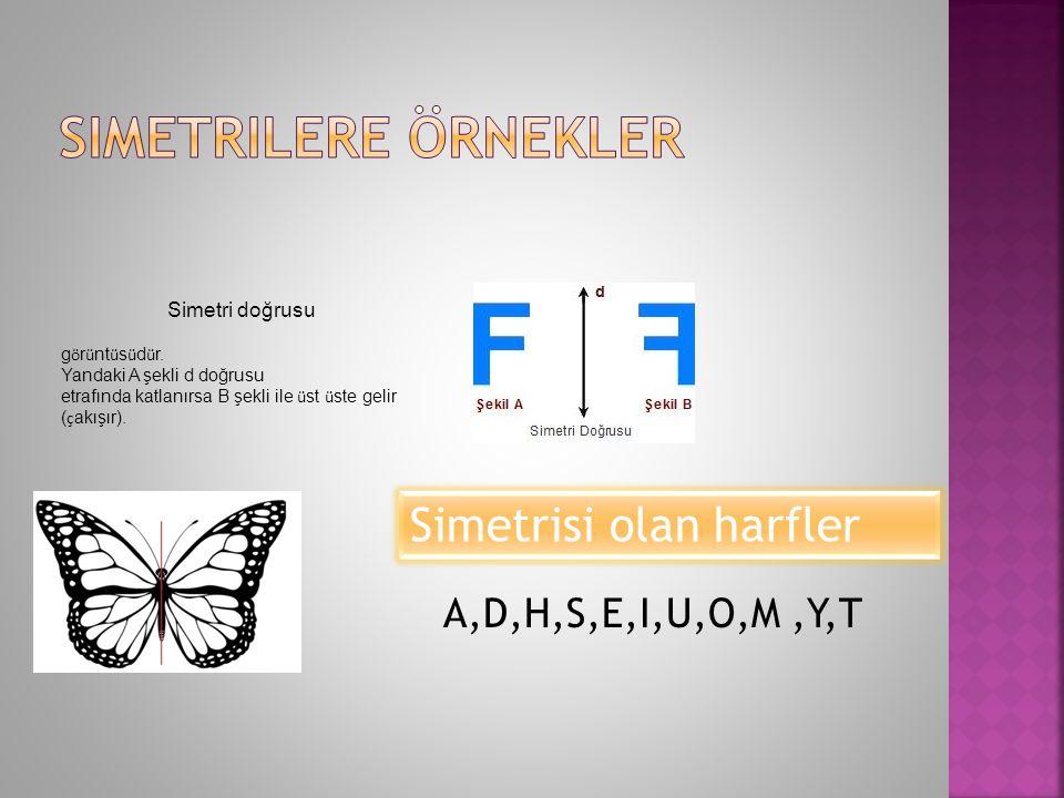  ÖRNEK: Simetri doğrusu k Şekil cŞekil d