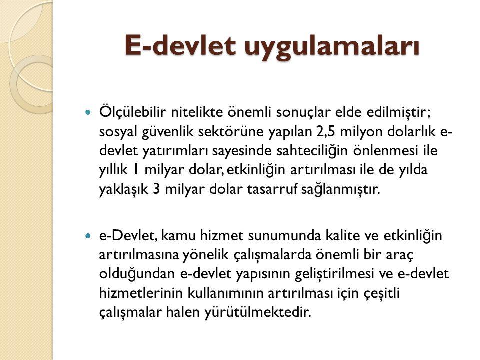 E-devlet uygulamaları E-Devlet Uygulamalarında Alan Adı Uzantıları Türkiye'de kamu hizmeti sa ğ layan kuruluşlar gov.tr uzantılı, yerel yönetimler bel.tr uzantılı, ilkö ğ retim ve liseler k12.tr uzantılı, üniversiteler ve enstitüler edu.tr uzantılı, askeri hizmetler mil.tr uzantılı ve asayiş hizmetleri pol.tr uzantılı web adresleri kullanmaktadır.