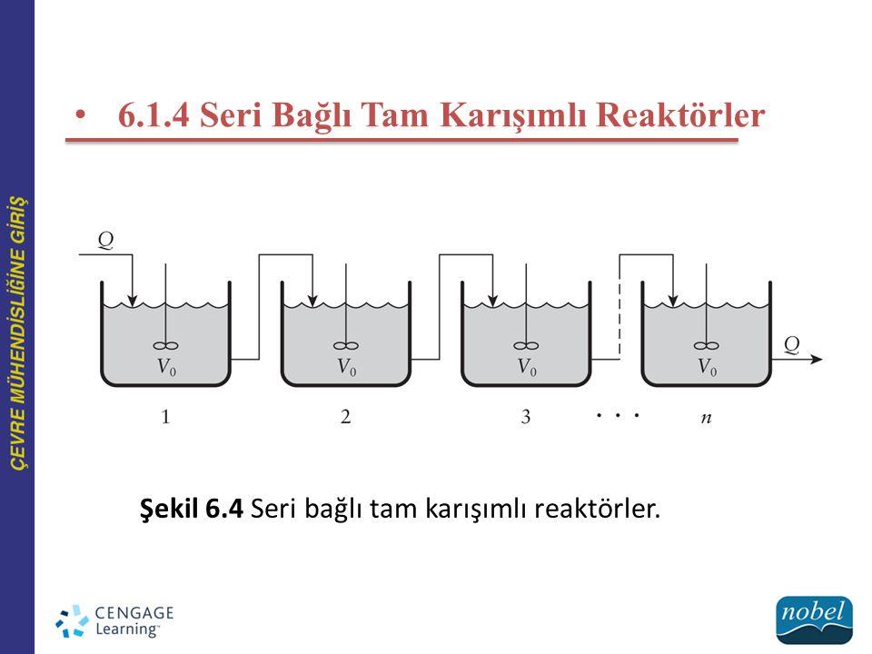 6.1.4 Seri Bağlı Tam Karışımlı Reaktörler Şekil 6.4 Seri bağlı tam karışımlı reaktörler.