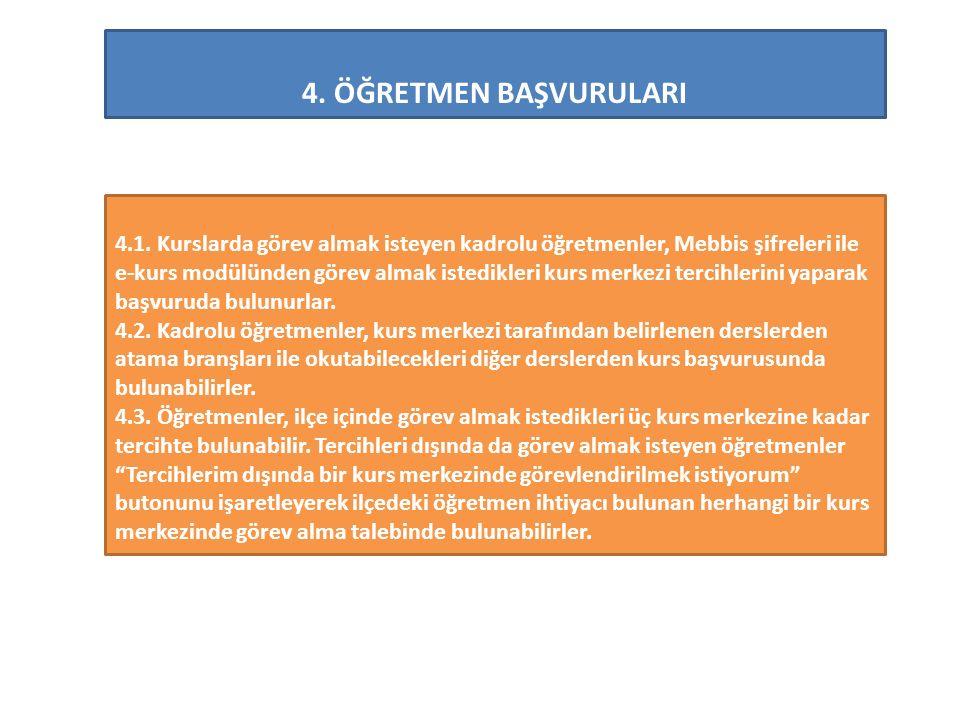 4.ÖĞRETMEN BAŞVURULARI 4.1.
