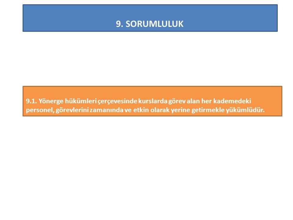 9.SORUMLULUK 9.1.