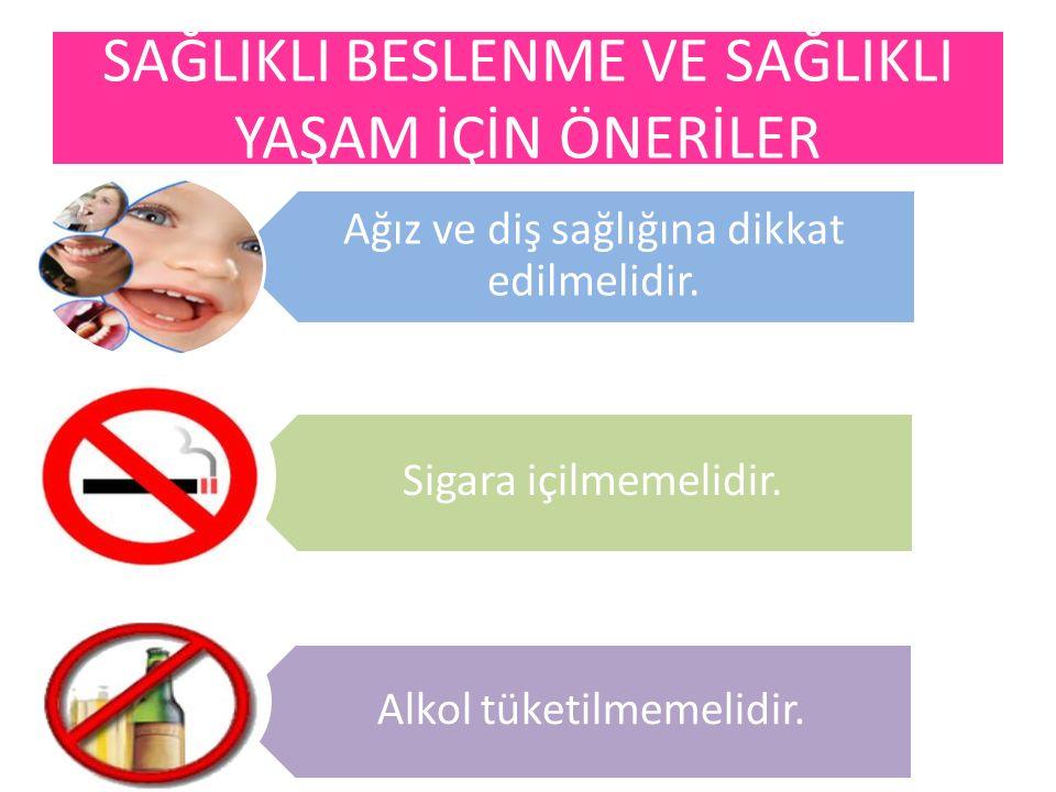 Ağız ve diş sağlığına dikkat edilmelidir. Sigara içilmemelidir. Alkol tüketilmemelidir.