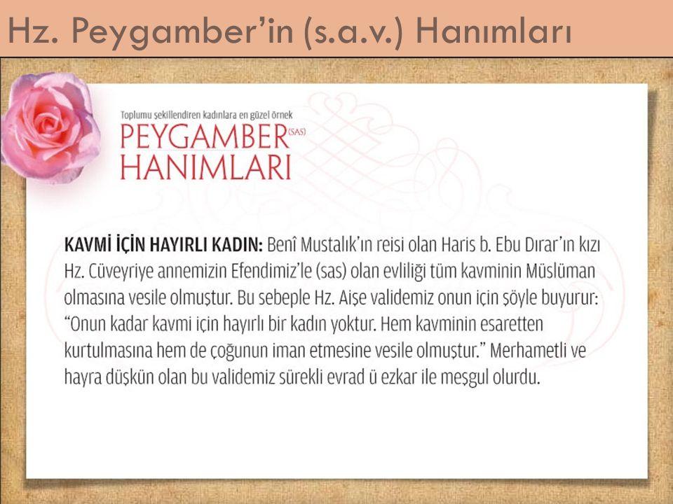 Hz. Peygamber'in (s.a.v.) Hanımları