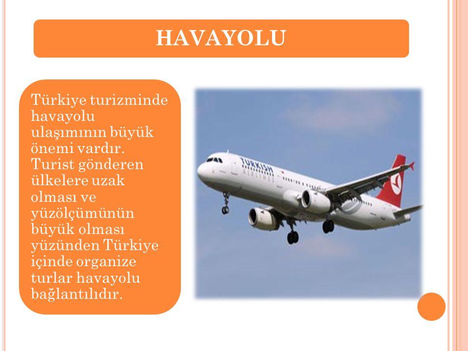Türkiye turizminde havayolu ulaşımının büyük önemi vardır. Turist gönderen ülkelere uzak olması ve yüzölçümünün büyük olması yüzünden Türkiye içinde o