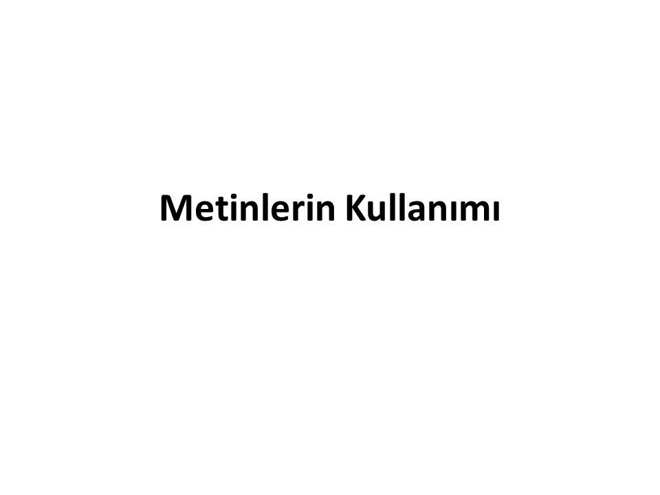 Kapsam Metinlerin kullanımı – Kısa tanımlar ve örnekleri sunma – Benzerlik ve farklılıkları belirleme – Sıralama ve listelemeler – Sebep-Sonuç yapıları veya açıklamaları belirtme – Farklı materyalleri destekleme