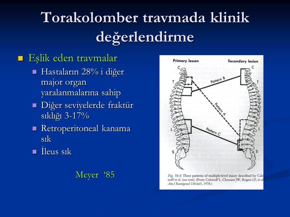 Torakolomber kırıklarda sınıflama 1.Stabil mi . 2.