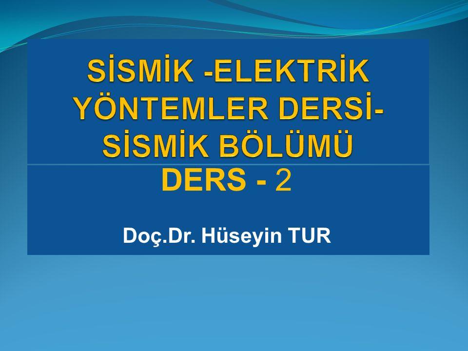DERS - 2 Doç.Dr. Hüseyin TUR