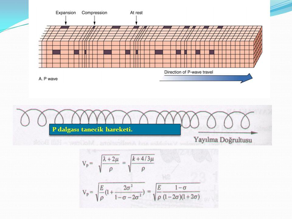 S –DALGALARI Enine, makaslama ve ikincil dalgalar da denir.