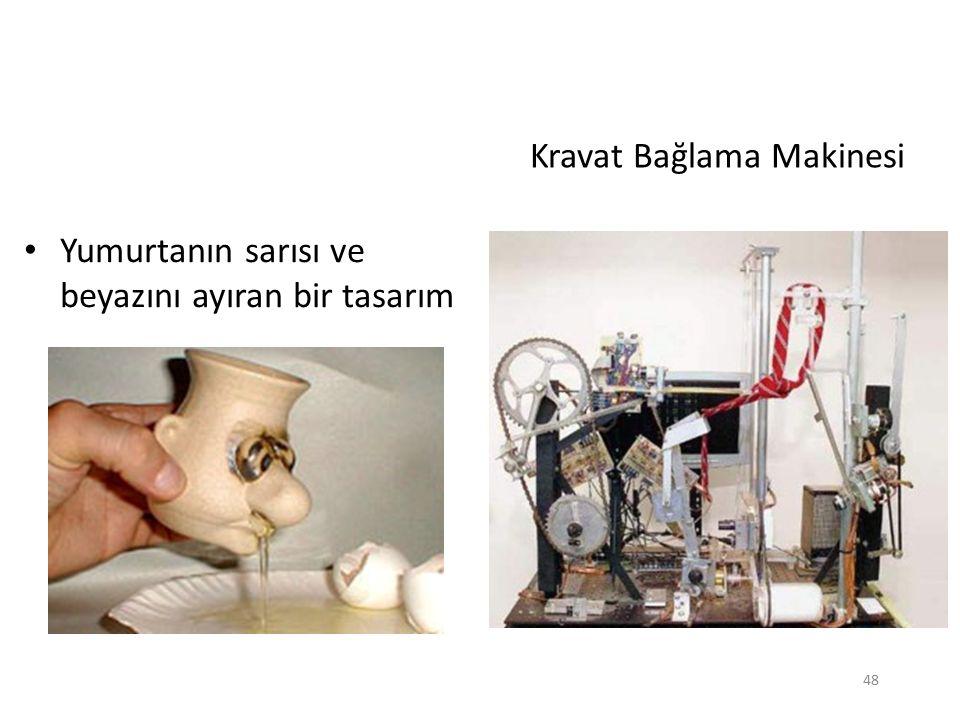 Kravat Bağlama Makinesi Yumurtanın sarısı ve beyazını ayıran bir tasarım 48