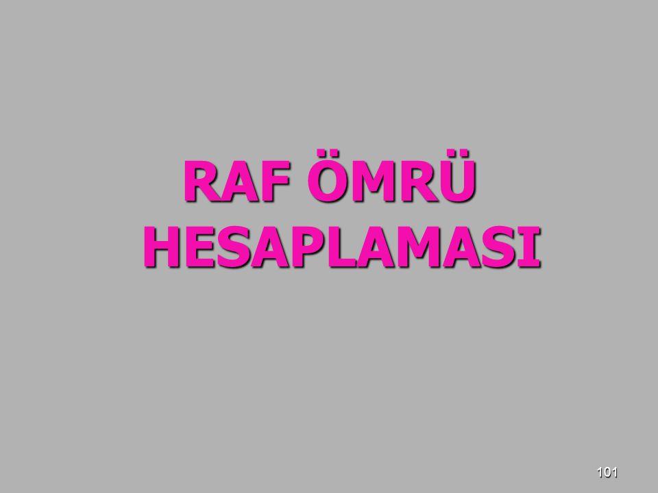 101 RAF ÖMRÜ HESAPLAMASI