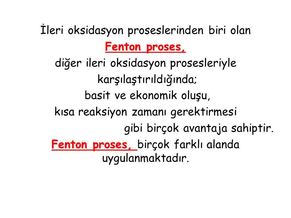 Sıcaklık Fenton proseste diğer etkin bir parametre sıcaklıktır.