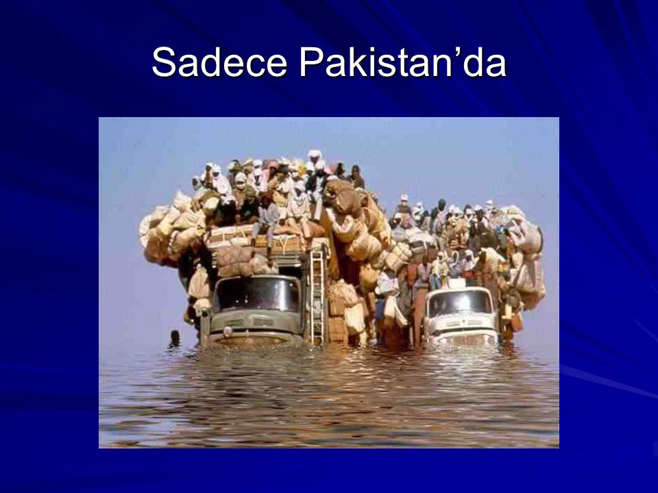 Sadece Pakistan'da