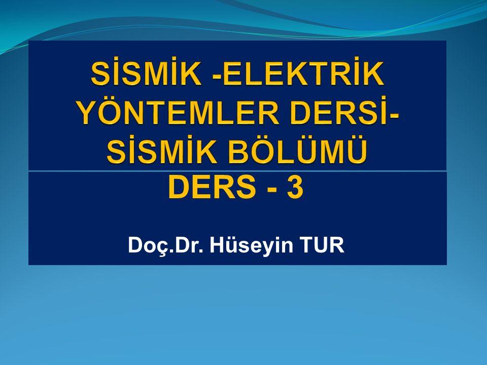 DERS - 3 Doç.Dr. Hüseyin TUR