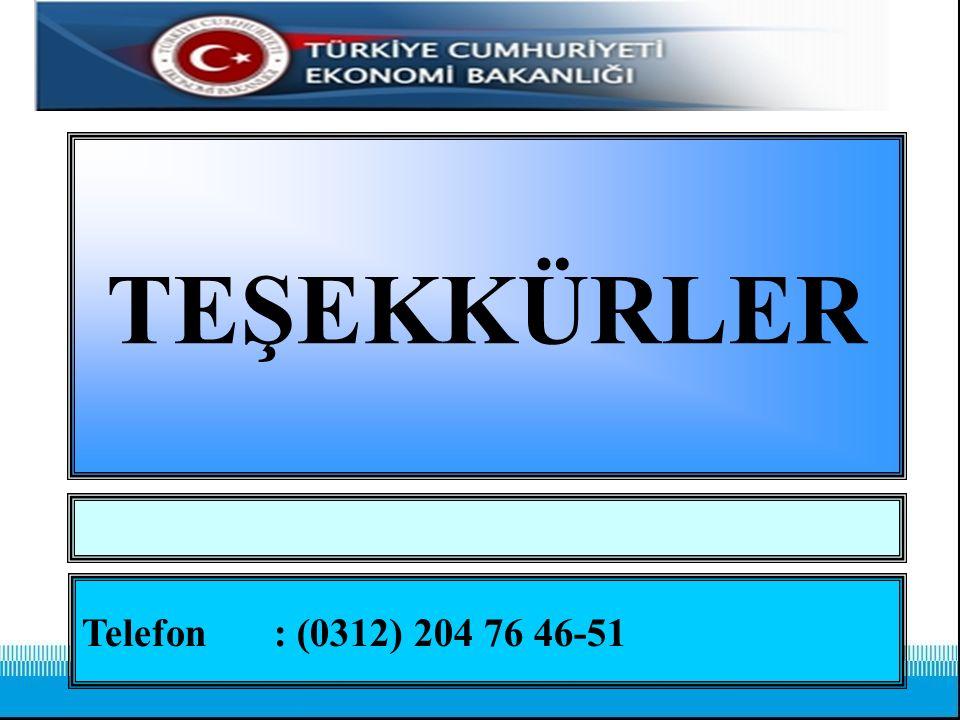 TEŞEKKÜRLER Telefon: (0312) 204 76 46-51