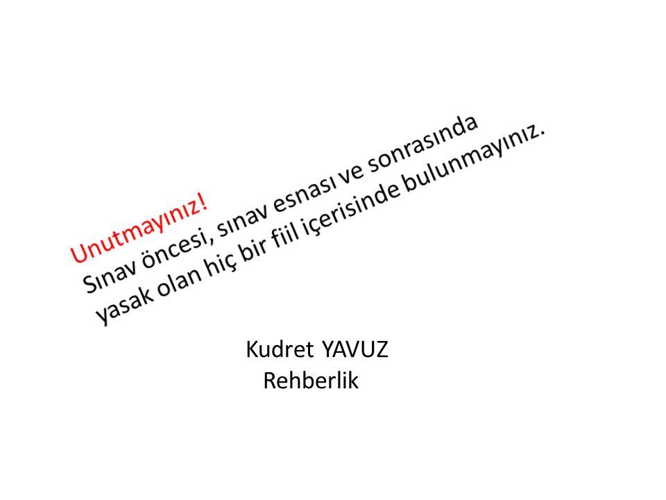 Kudret YAVUZ Rehberlik