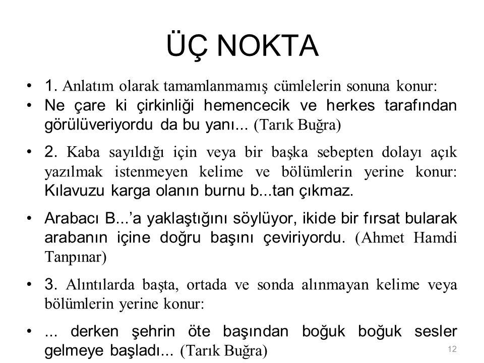 12 ÜÇ NOKTA 1.
