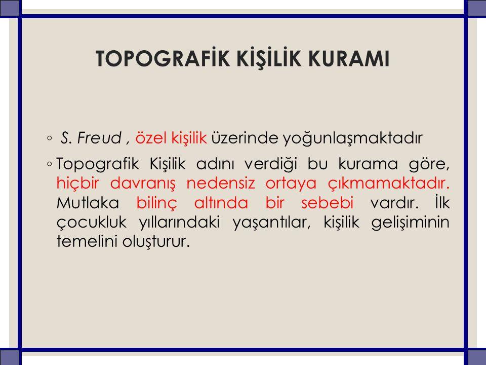 TOPOGRAFİK KİŞİLİK KURAMI ◦ S.