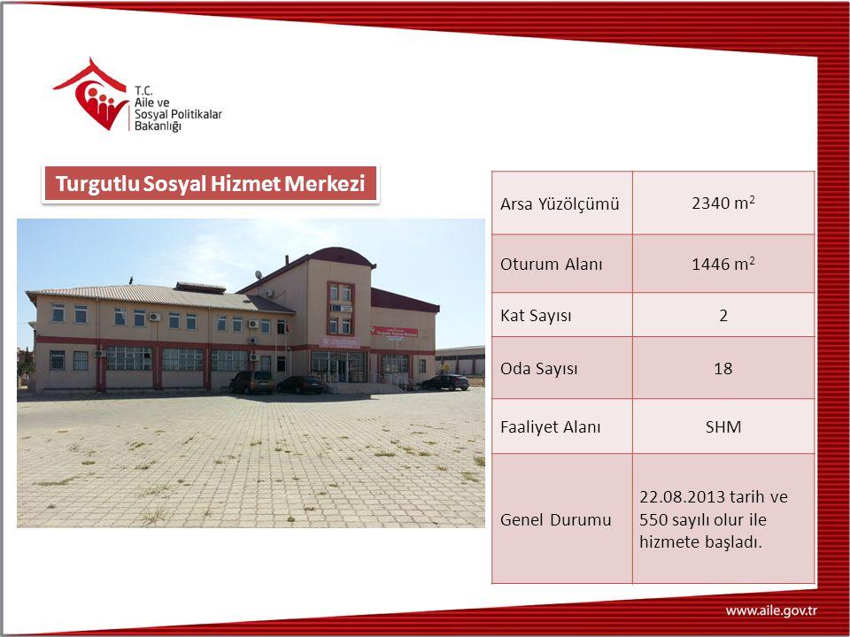 Arsa Yüzölçümü 2340 m 2 Oturum Alanı 1446 m 2 Kat Sayısı 2 Oda Sayısı 18 Faaliyet Alanı SHM Genel Durumu 22.08.2013 tarih ve 550 sayılı olur ile hizme