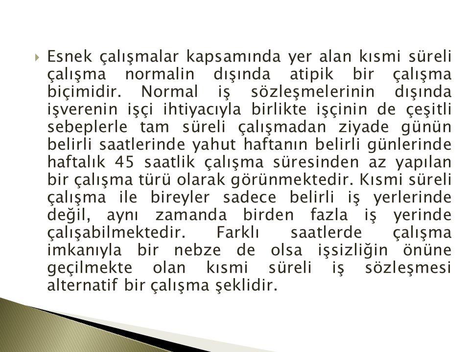 2.KISMİ SÜRELİ İŞ SÖZLEŞMESİNİN UNSURLARI  4857 S.