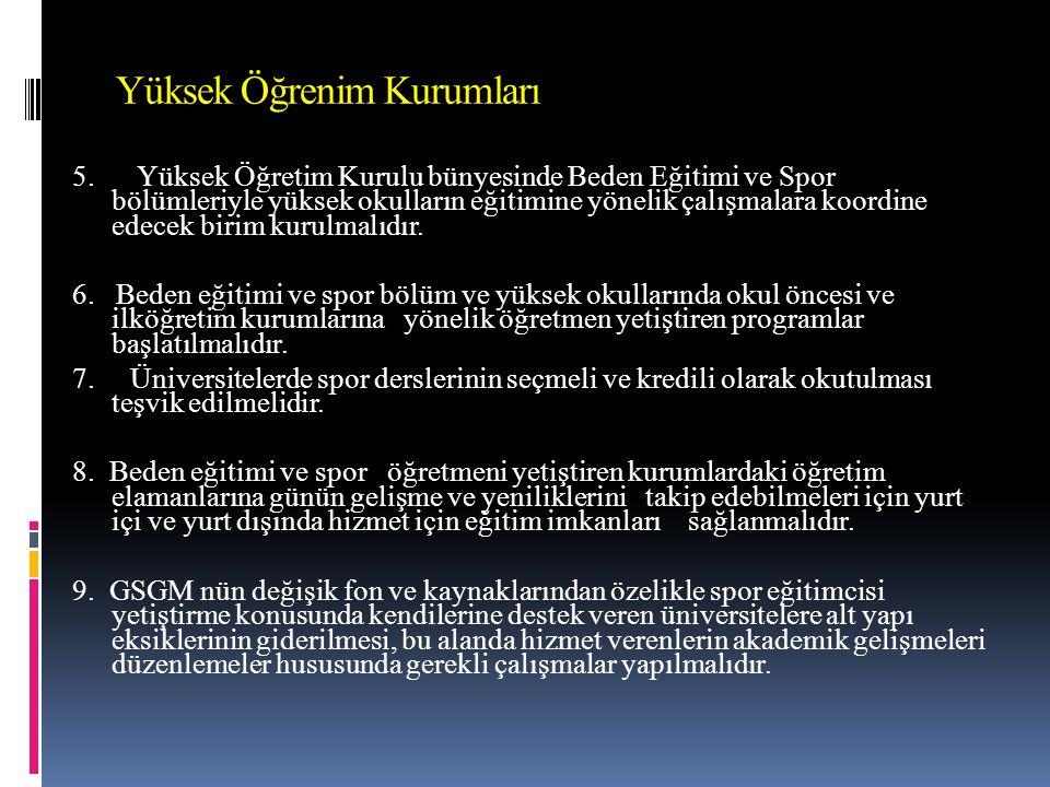 Yüksek Öğrenim Kurumları 5.