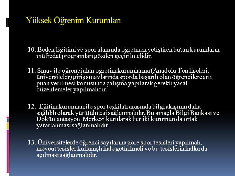Yüksek Öğrenim Kurumları 10.
