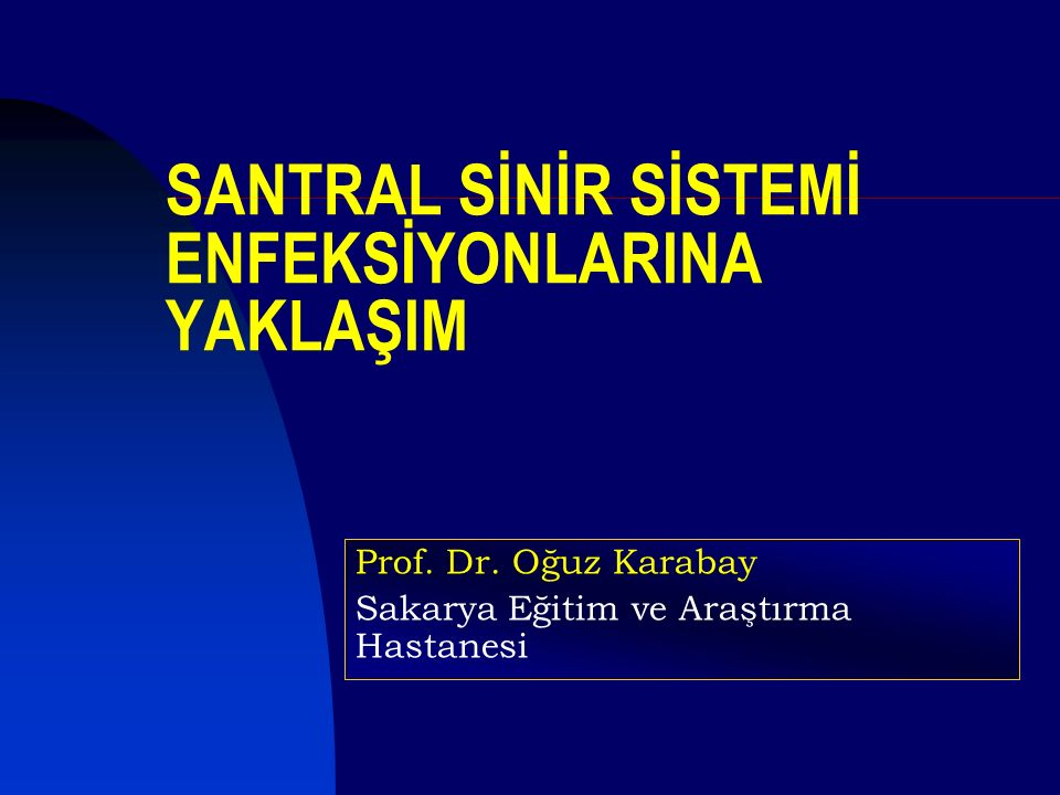 SANTRAL SİNİR SİSTEMİ ENFEKSİYONLARINA YAKLAŞIM Prof.