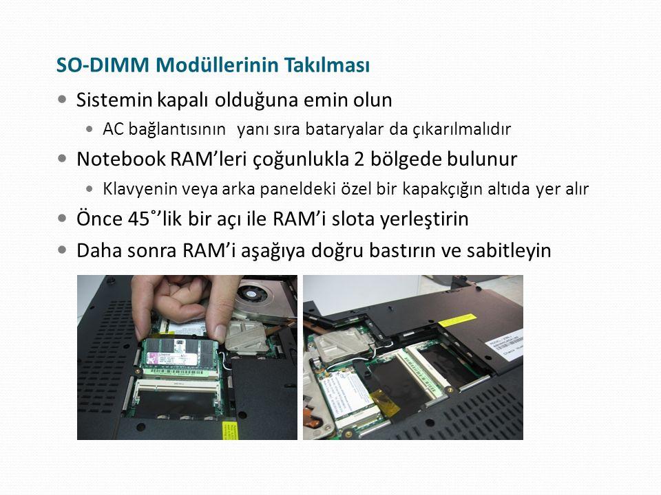 RAM Sayacı Yeni RAM'i taktıktan sonra, bilgisayar açılışını dikkatle izleyin Eğer RAM'i düzgün taktıysanız, POST ekranındaki RAM sayacı yeni bir değer gösterecektir Ekrandaki RAM miktarının taktığınız RAM ile uyumlu olup olmadığına bakın Ekrandaki rakamların kafa karıştırıcı olabileceğini unutmayın 524582912 gibi rakamın 512 MB RAM'i gösterdiğini tahmin edin Ekran kartı paylaşımı veya sistem uyumunun zorlaması gibi sebeplerden dolayı RAM miktarının yaklaşık rakamlar gösterebileceğini unutmayın
