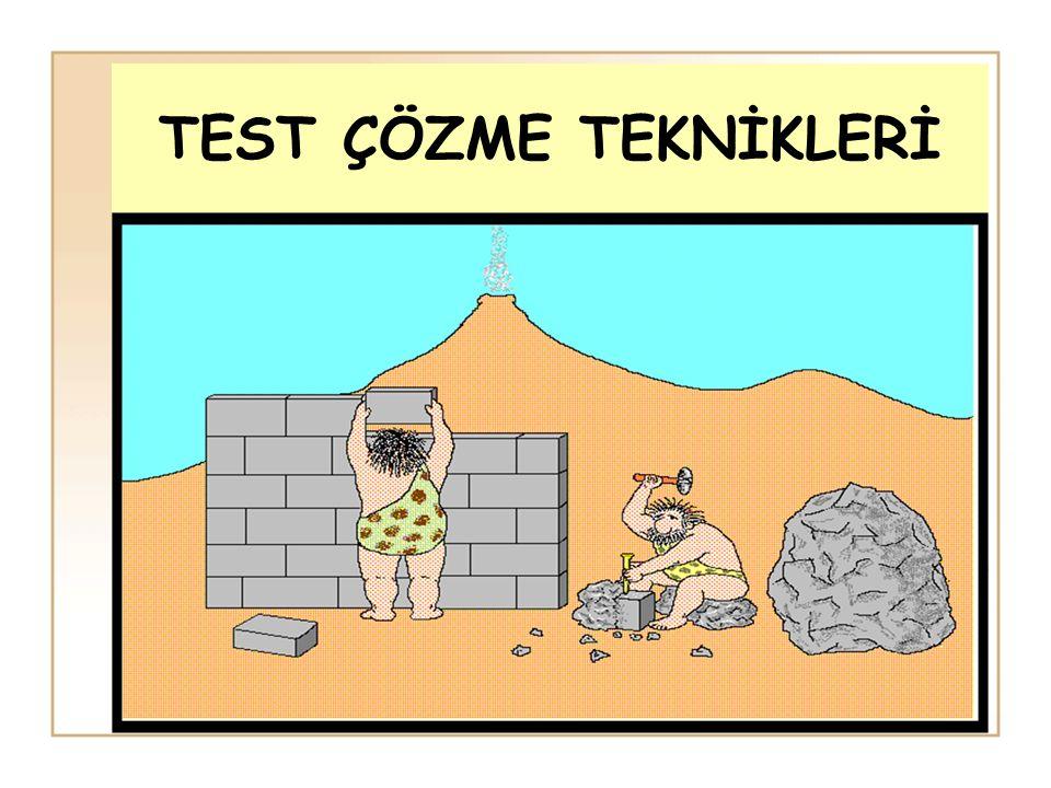 Bu nedenle soru ile inatlaşmak bu soruyu çözmezsem ölürüm mantığı, testin sonunda hüsrana uğrama riskini arttırır.