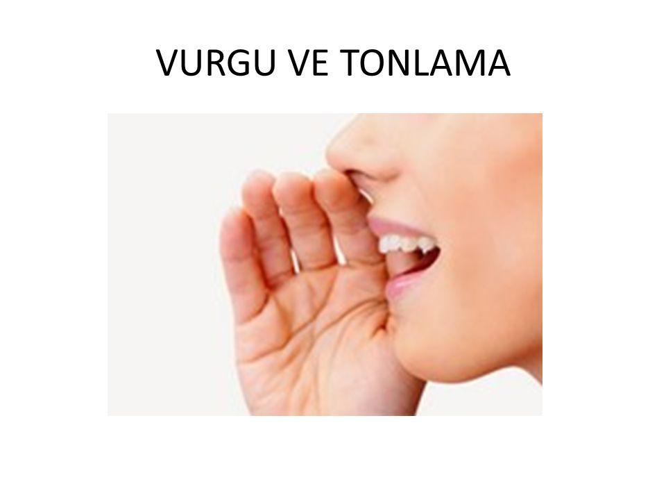 VURGU VE TONLAMA
