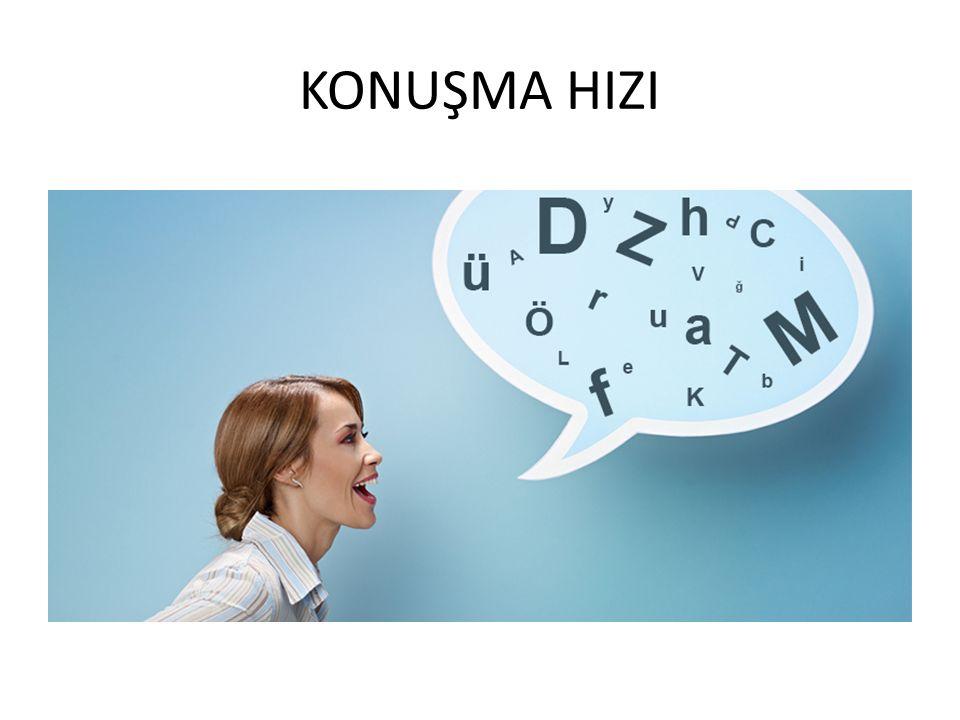 KONUŞMA HIZI