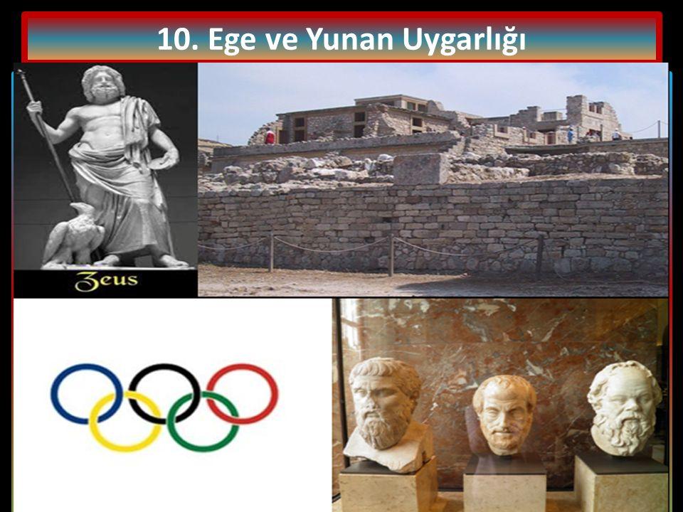 10. Ege ve Yunan Uygarlığı Şehir devletlerinin hüküm sürdüğü Yunanistan da halk; siyasi haklara sahip olan yurttaşlar, siyasi hakları olmayan yurttaşl