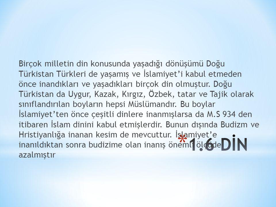 Birçok milletin din konusunda yaşadığı dönüşümü Doğu Türkistan Türkleri de yaşamış ve İslamiyet'i kabul etmeden önce inandıkları ve yaşadıkları birçok din olmuştur.