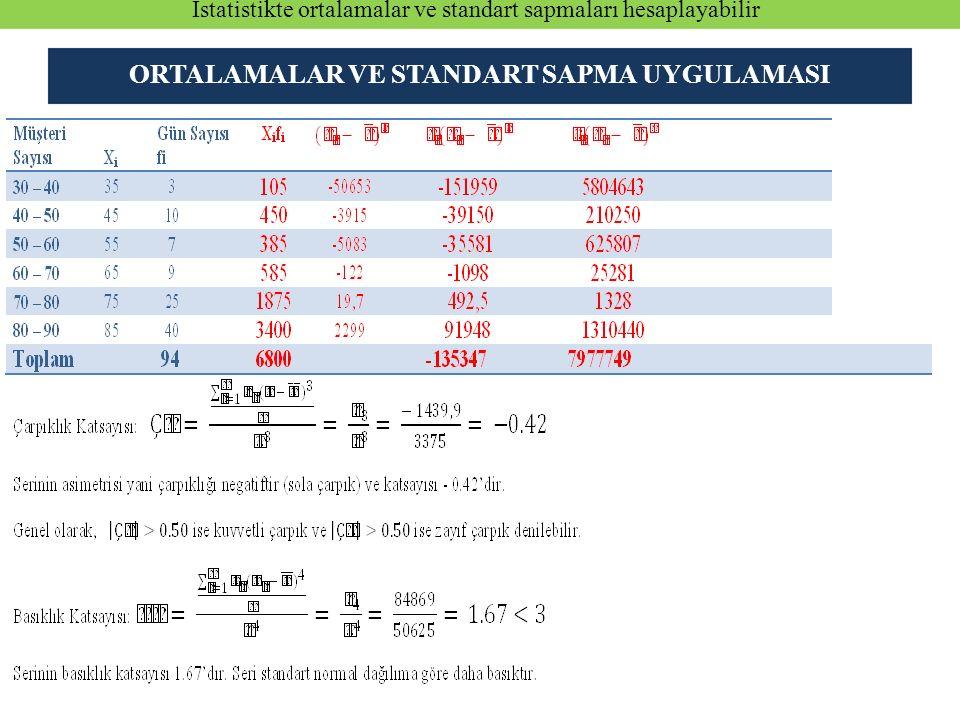 16- Standart Z dağılışı için aşağıdaki ifadelerden hangisi doğrudur.