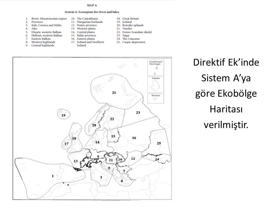2. Physical Direktif Ek'inde Sistem A'ya göre Ekobölge Haritası verilmiştir.