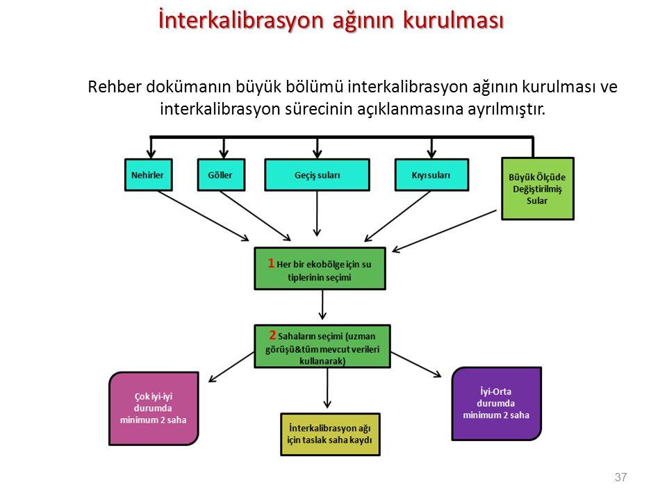 37 Rehber dokümanın büyük bölümü interkalibrasyon ağının kurulması ve interkalibrasyon sürecinin açıklanmasına ayrılmıştır.