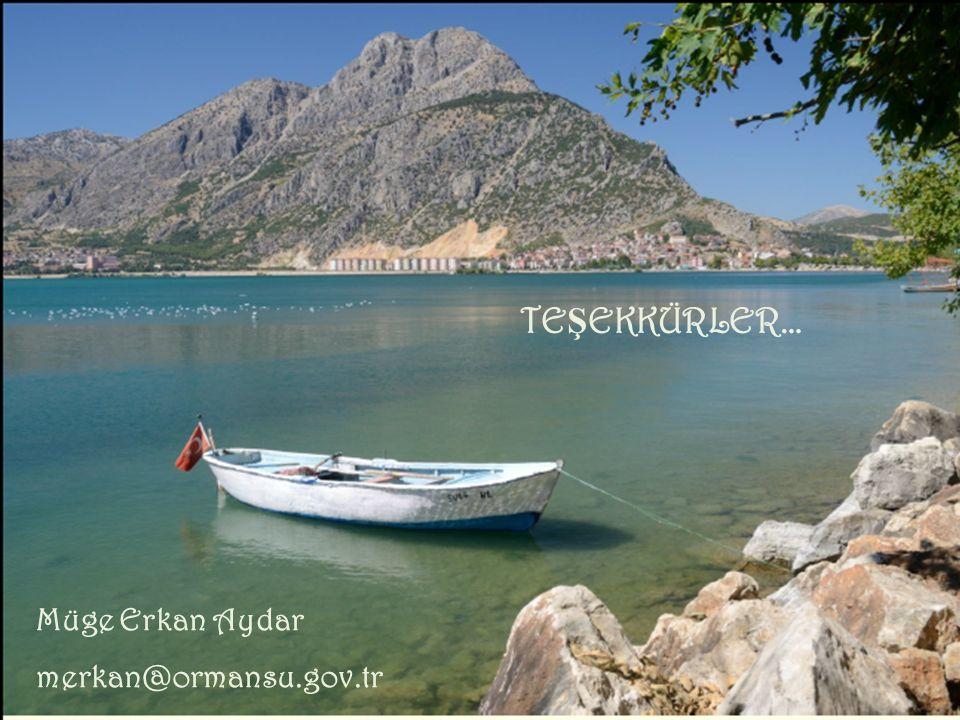 8th Shallow Lakes Conference Antalya, TURKEY 12-17 Oct, 2014 TE Ş EKKÜRLER… Müge Erkan Aydar merkan@ormansu.gov.tr