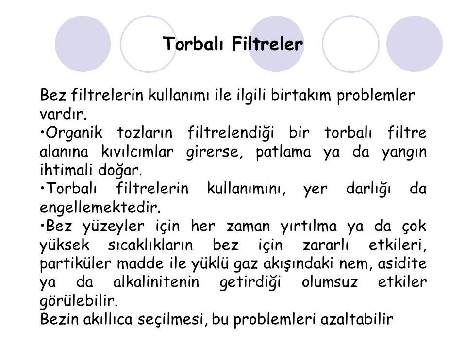 Torbalı Filtreler Bez filtrelerin kullanımı ile ilgili birtakım problemler vardır.