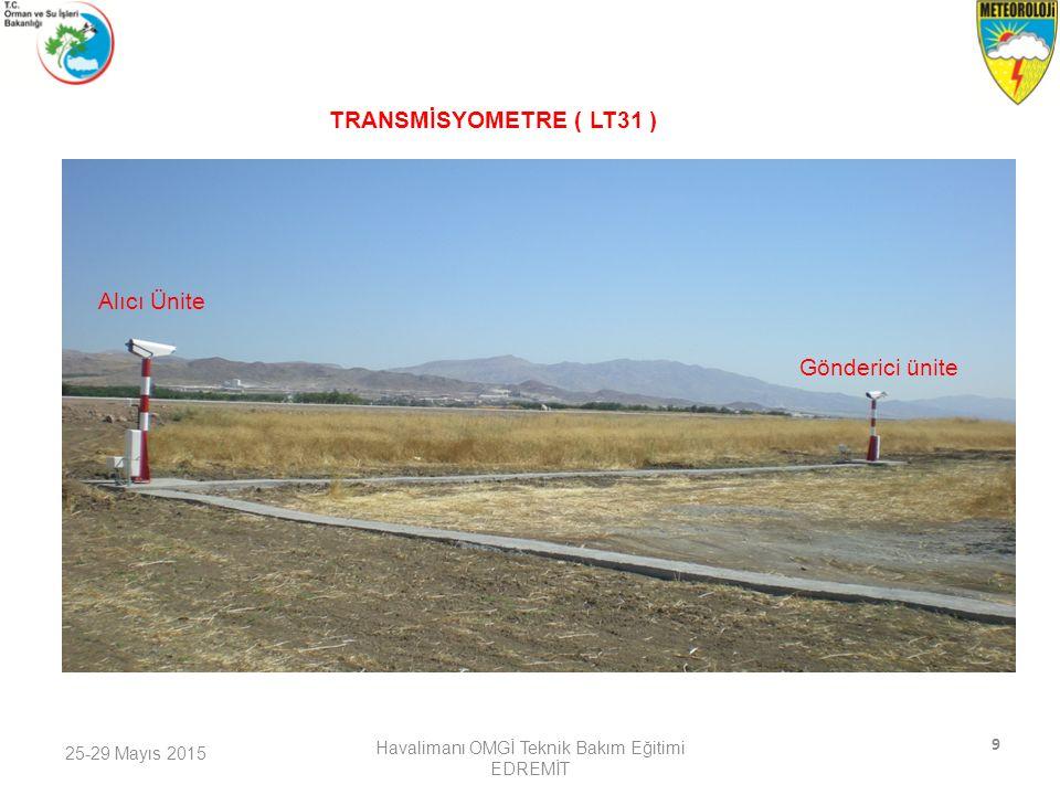 25-29 Mayıs 2015 Havalimanı OMGİ Teknik Bakım Eğitimi EDREMİT 10 Silyometre (CEILOMETER CL31)