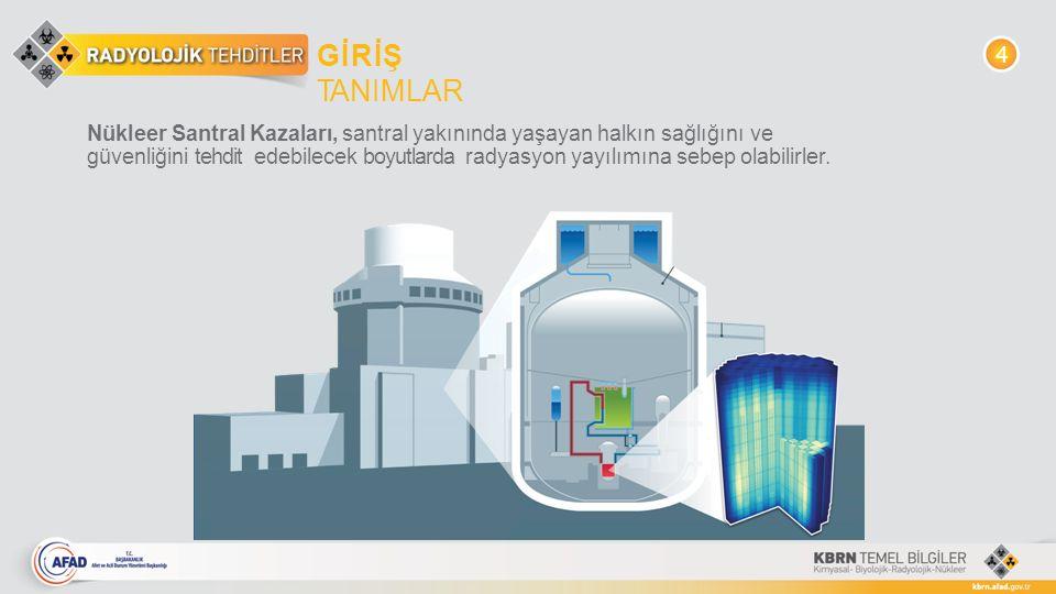 Nükleer Santral Kazaları, santral yakınında yaşayan halkın sağlığını ve güvenliğini tehdit edebilecek boyutlarda radyasyon yayılımına sebep olabilirle