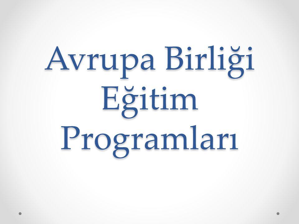 Avrupa Birliği Eğitim Programları