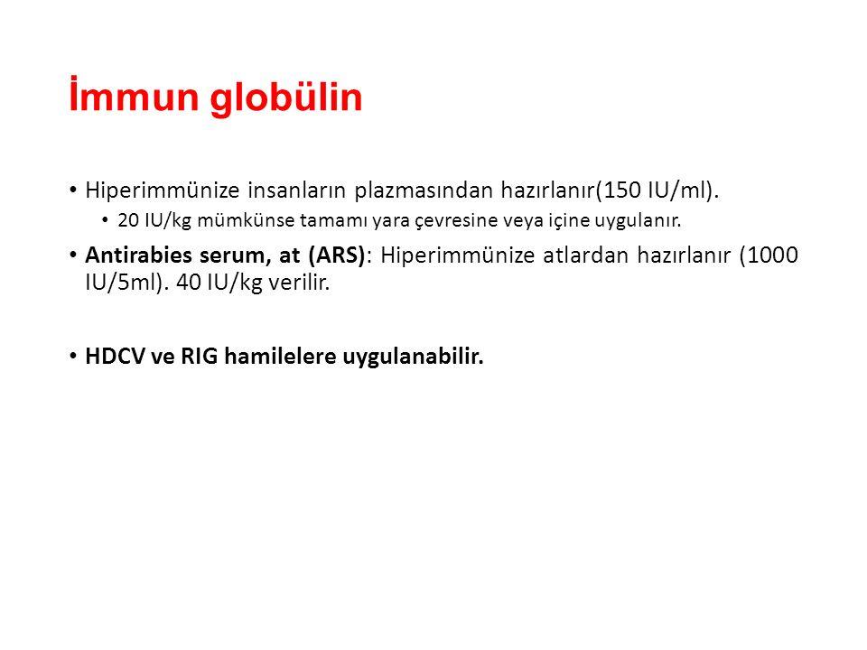İmmun globülin Hiperimmünize insanların plazmasından hazırlanır(150 IU/ml).