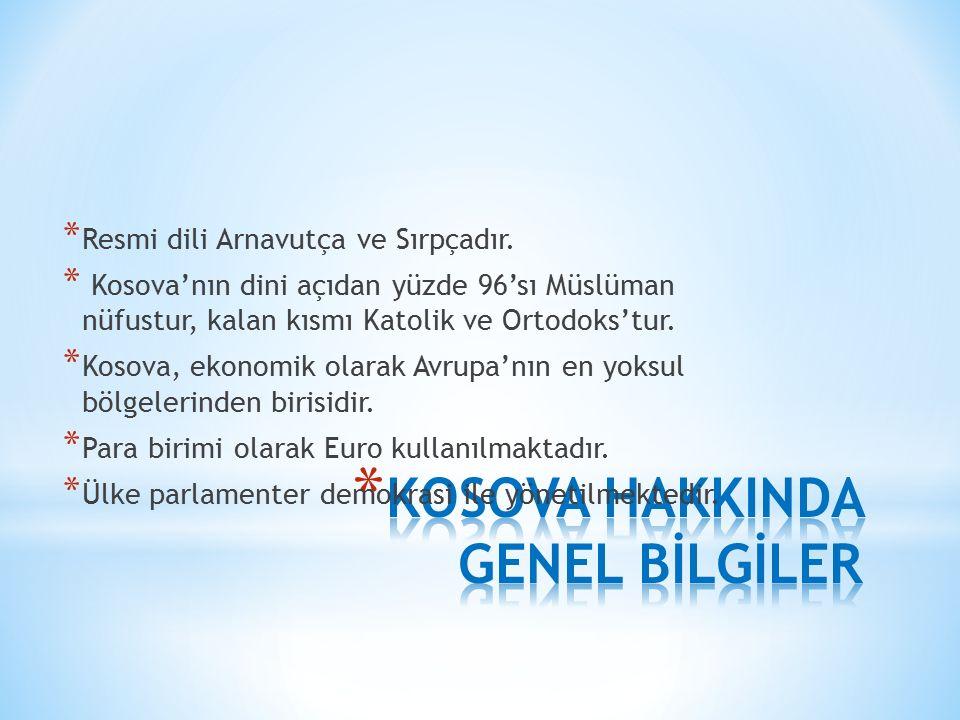İkinci Dünya Savaşı'na Kadar Kosova Sorunu * Kosova sorunu 1389 da Kosova'nın Osmanlı hâkimiyetine girmesiyle başlamıştır.
