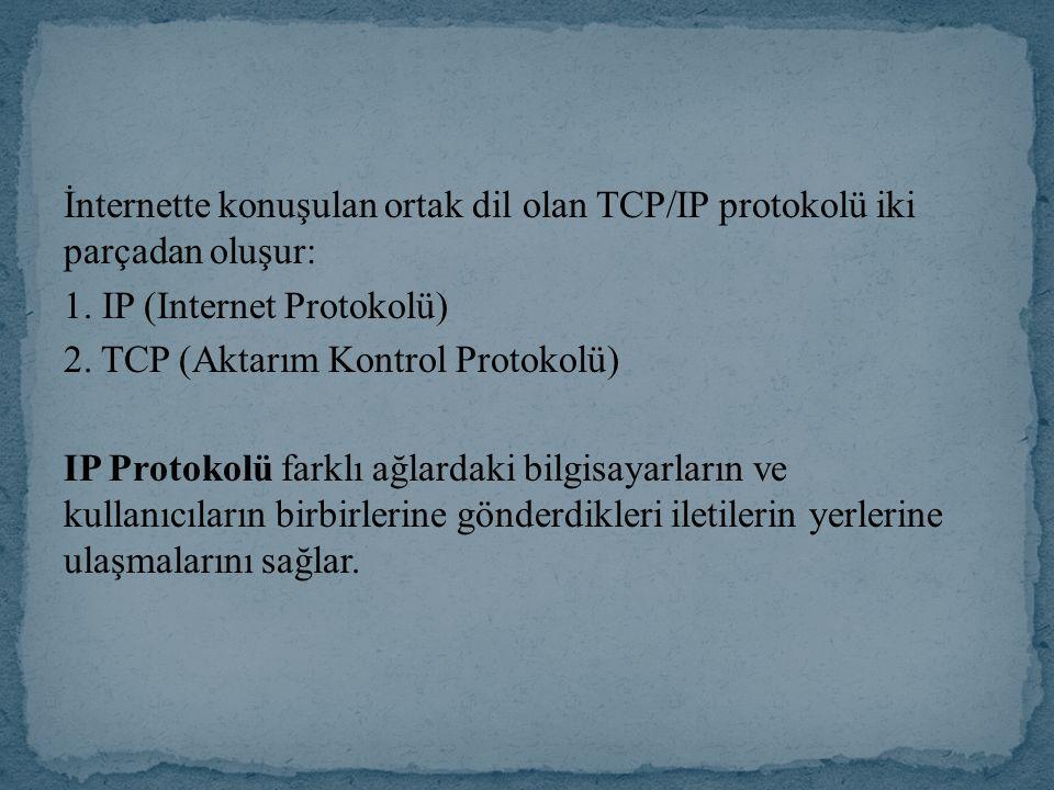 IP protokolü internet üzerinde her bilgisayarın farklı bir numarası olmasını gerektirir.