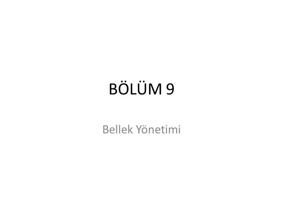 Dinamik Yerleşim Sevinç İlhan Omurca - OS - Bolum 922 Dinamik adres dönüşümü için base ve limit register lar kullanılır.