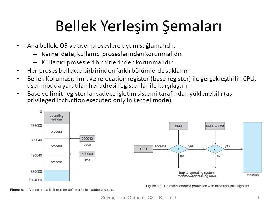 ...Swap bellek yönetimi zaman paylaşımlı sistemlerle iyi uyum gösterir.