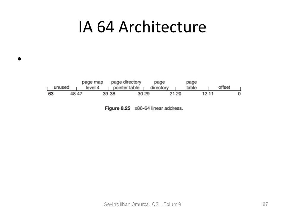 IA 64 Architecture Sevinç İlhan Omurca - OS - Bolum 987