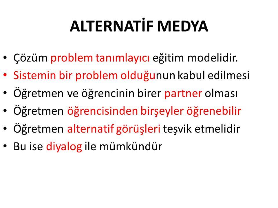 ALTERNATİF MEDYA Çözüm problem tanımlayıcı eğitim modelidir.