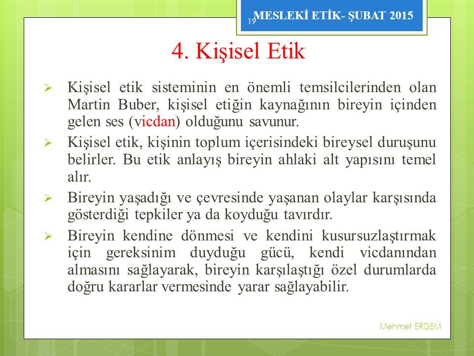 MESLEKİ ETİK- ŞUBAT 2015 4.