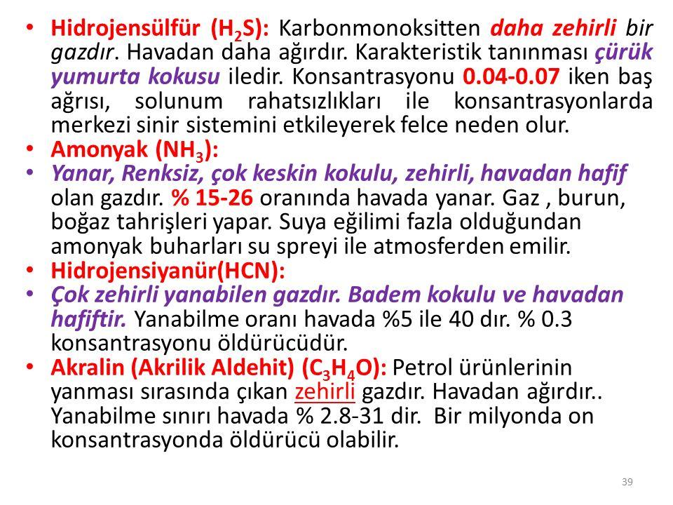 YANGIN YERİNDEKİ TEHLİKELER VE RİSK DEGERLENDİRMESİ 40