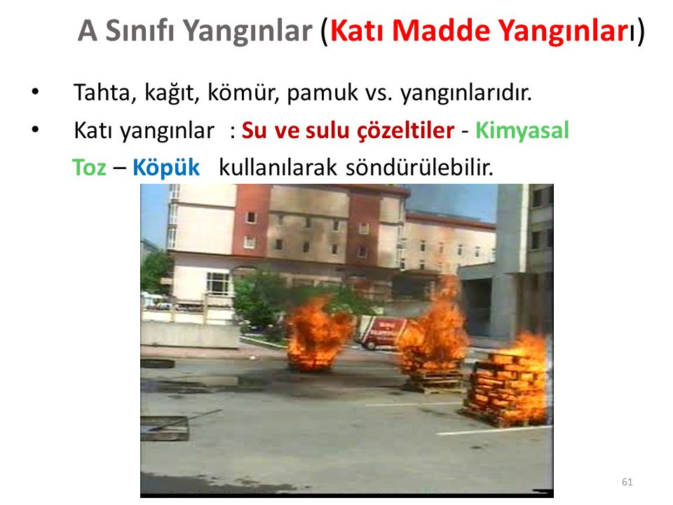 Yanıcı basit katı maddeler yangınıdır.Temel özellikleri kor oluşturmalarıdır.